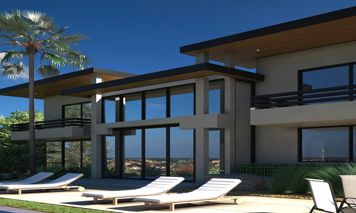 Modern luxury house in Abu Dhabi. Architectural design services