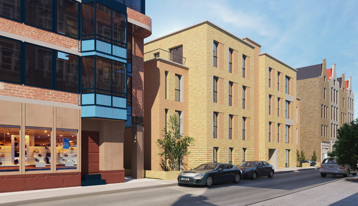 Four story steel structure building London. structural engineer London