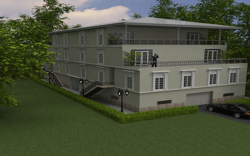 California Architecture - Home design - 3 story building in California