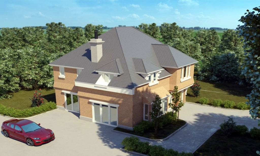 2 story detached house