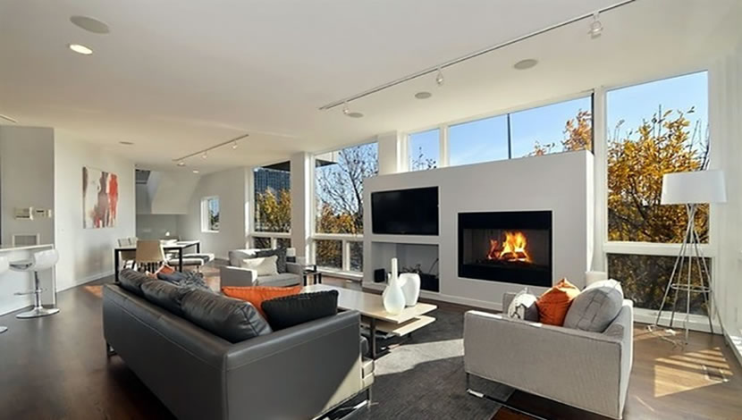 living room design - fire place
