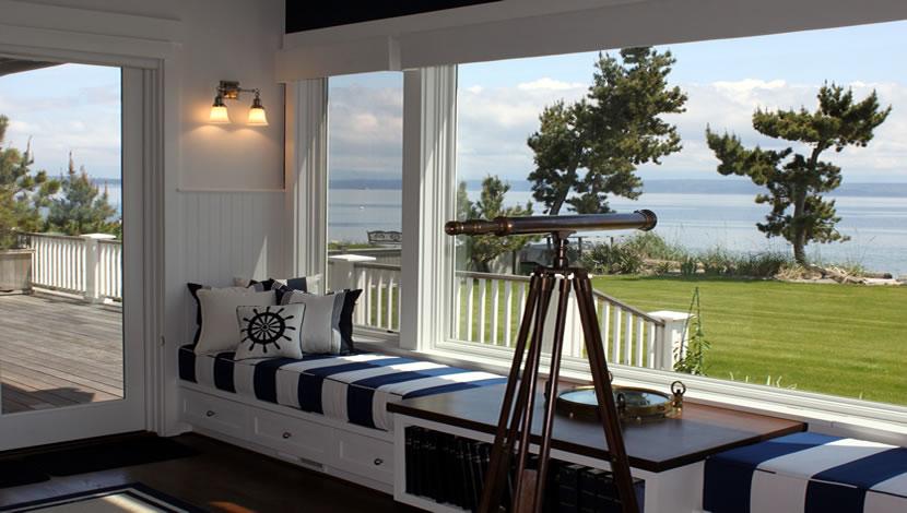 sunroom design idea beside the beach