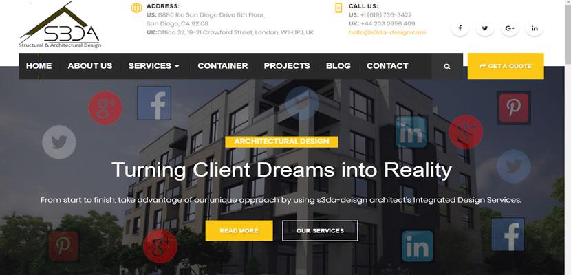 architectural company - social media