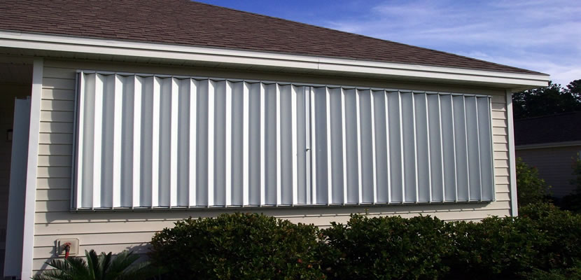 Window shutters, roof clips, walls, and doors reinforcement can help to keep your home intact.