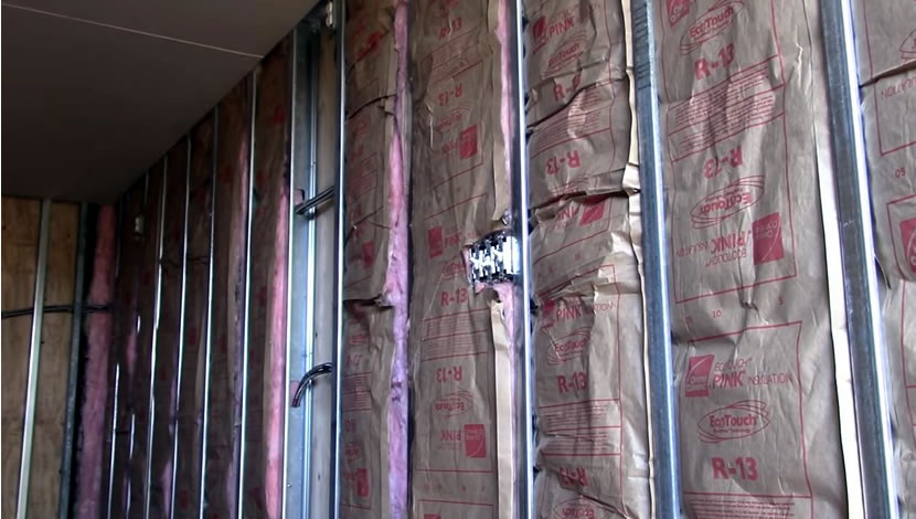 container home - fiberglass blanket for insulation