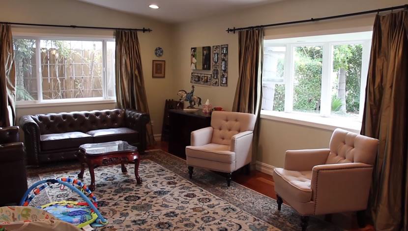 interior designer - leather sofa