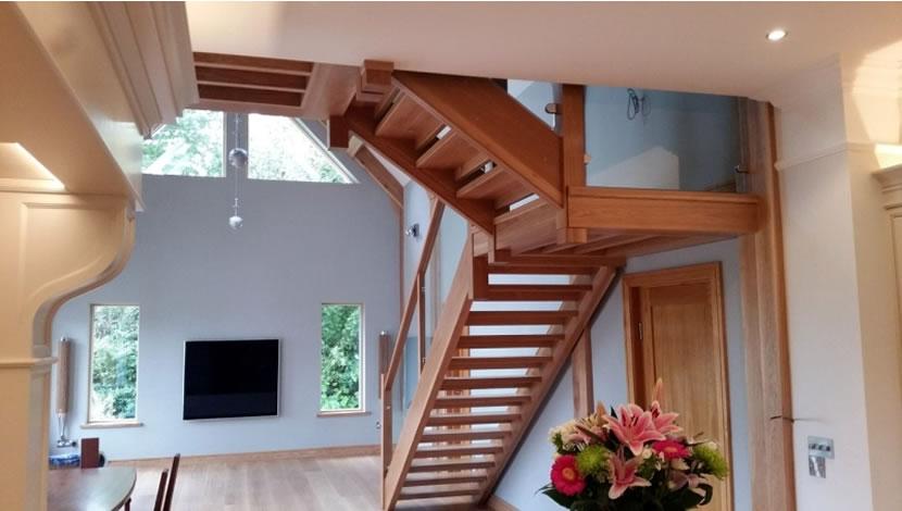 loft living room - stair case
