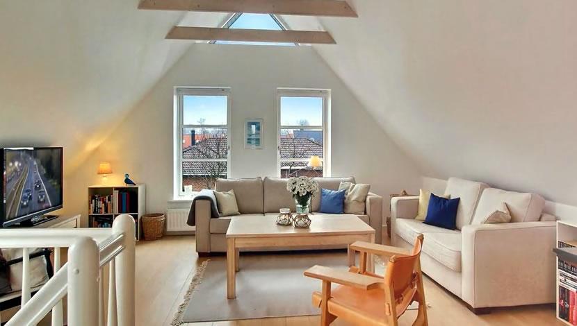 loft living room - using windows