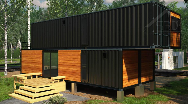 Shipping container home design in Iowa | S3DA Design