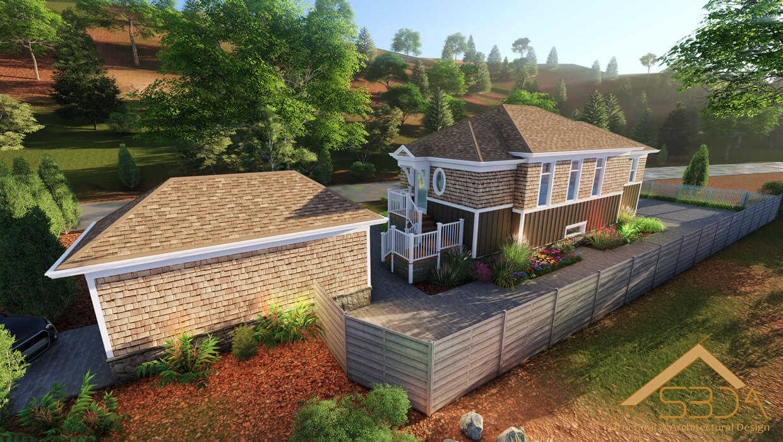 3D visualization services - Villa exterior design