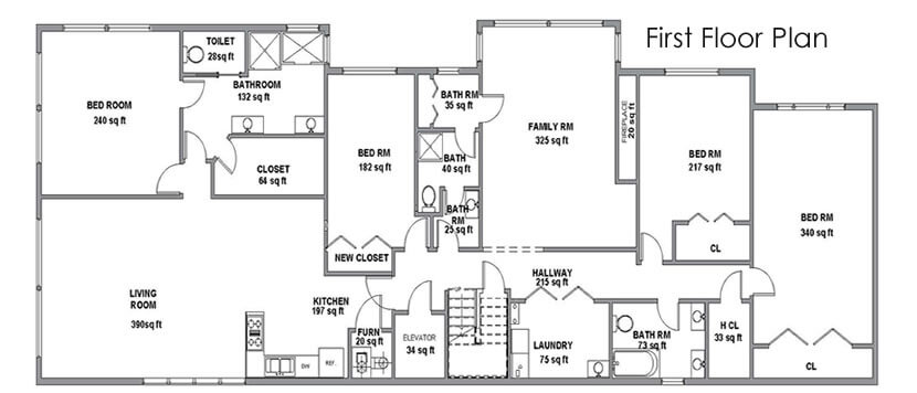 House Plans - First Floor plan