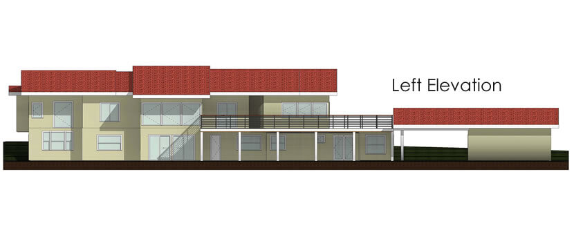 Home Plans - Left elevation