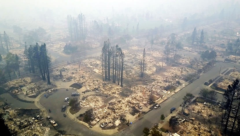 California wildfire-Architectural design services