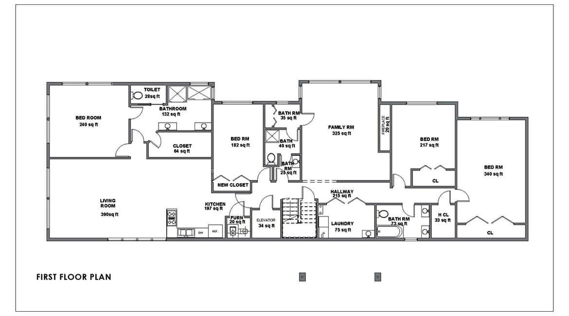 modern house design- First floor plan