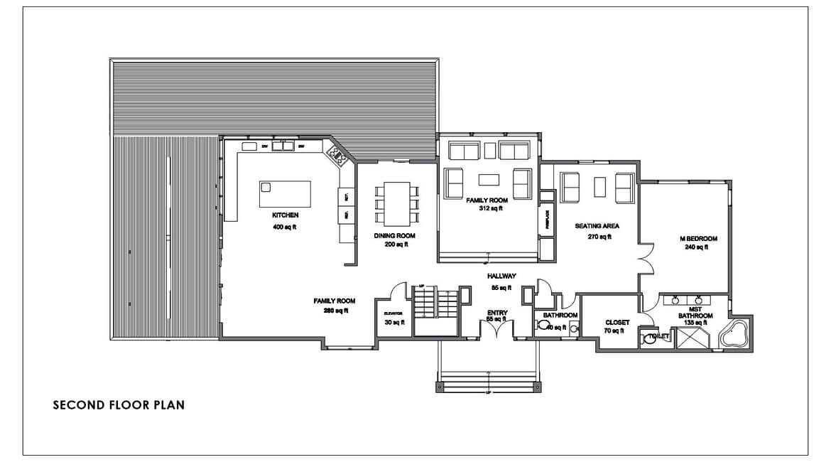 California complementary style- Second floor plan