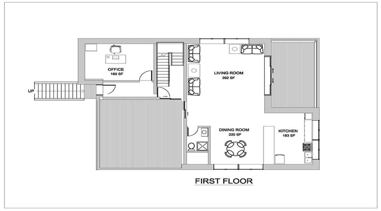 Modern house style - First Floor plan