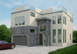 Structural and architectural design in Canyon Road California - residential building in the US