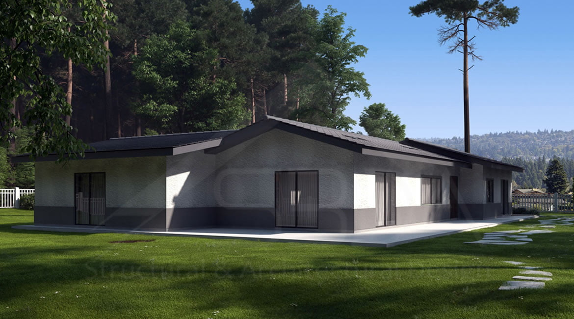 structural engineering services for one story residential building in California.