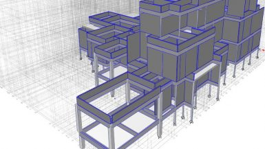 Structural engineering project Villa design - Concrete Frame Building