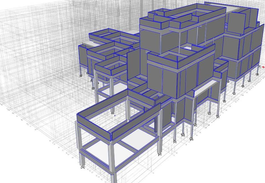 Structural engineering project Villa design - Concrete Frame Building