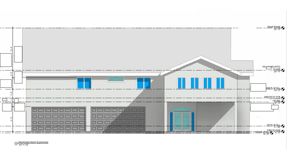 single family home in Florida - structural and architectural design services - elevation