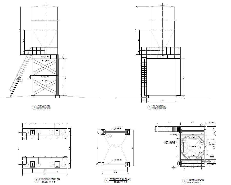 Design of a silo in Minco, Oklahoma