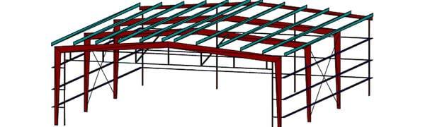 Portal frame building in US