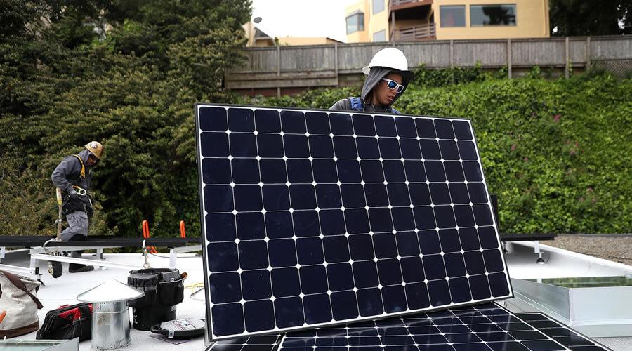 Green building design - solar installer