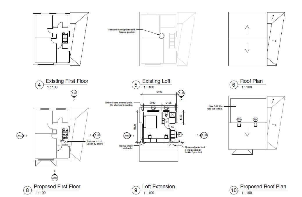 Loft conversion Heybridge - Architectural plans