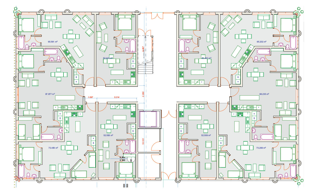 Mixed use building-Floor plan