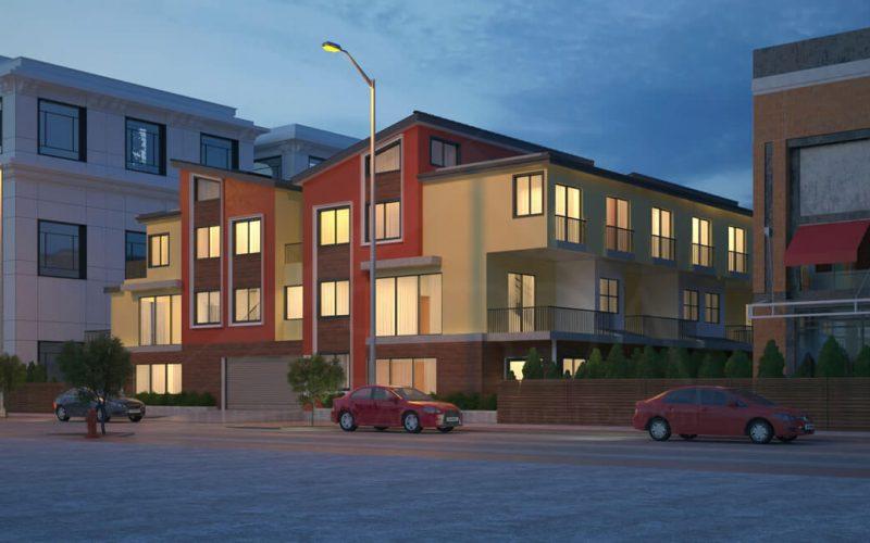 Multifamily housing architecture- 10-unit multifamily building architecture design Redwood City, CA