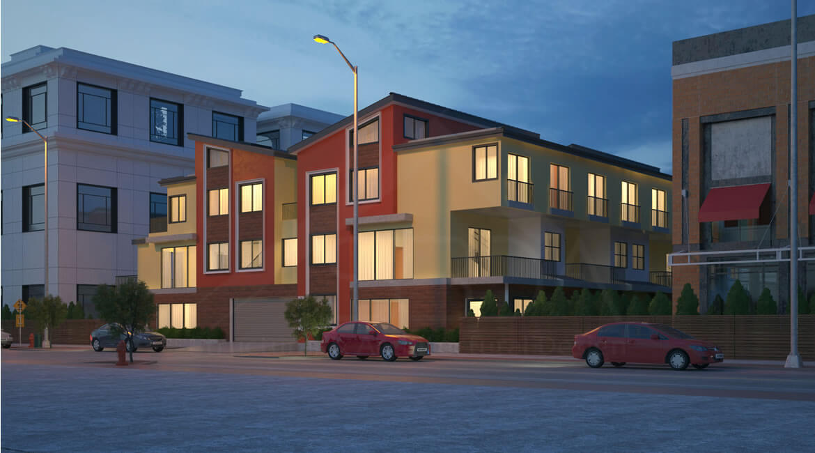 Multifamily housing architecture- 10-unit multifamily building architecture design Redwood City, CA