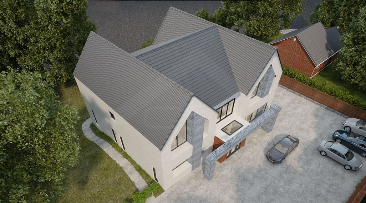 Rear Extension, Two-story new Build House-Manchester the UK