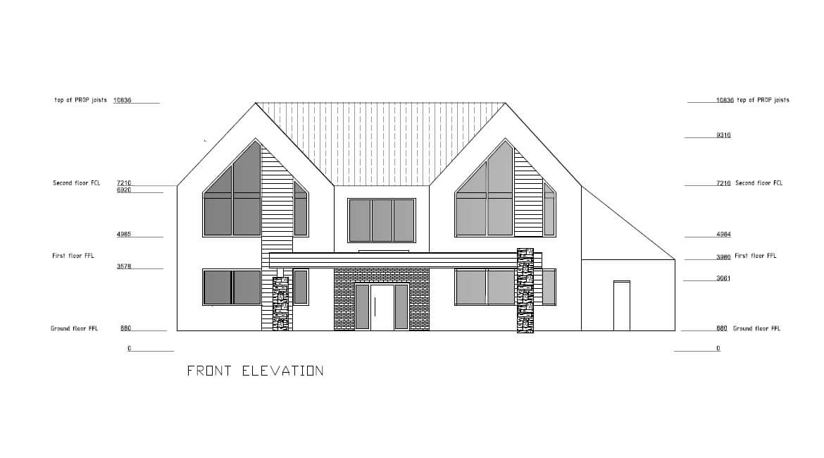 Single family home - Front elevation