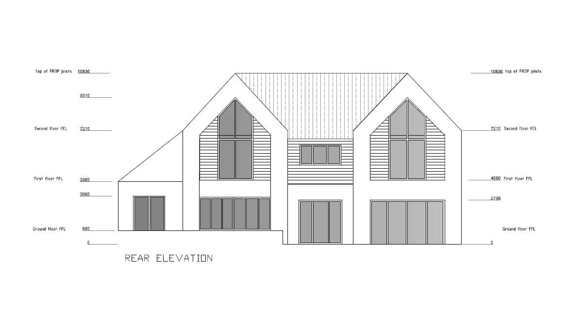 Single family home - rear elevation