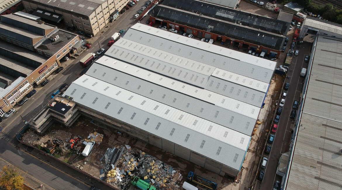 Metal warehouse in London Structural engineering
