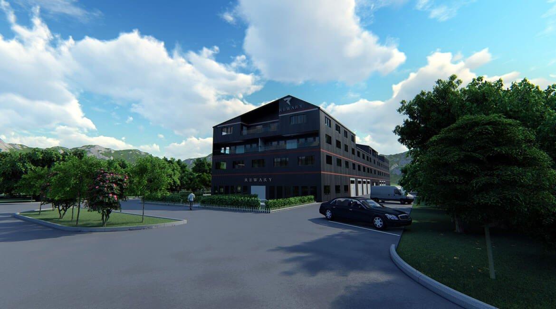 Mixed use design Les Iles - Switzerland. Architectural Design