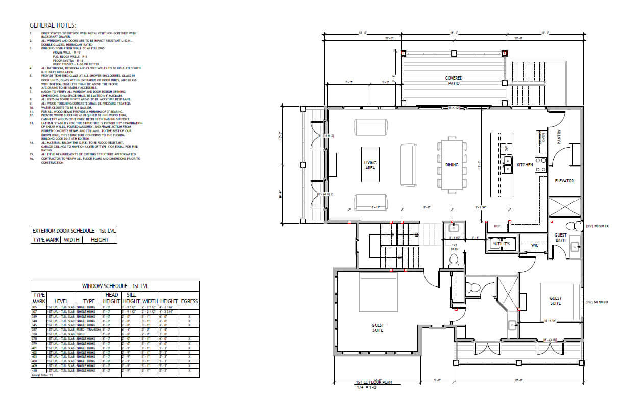 Wood structure home Florida- Floor plan
