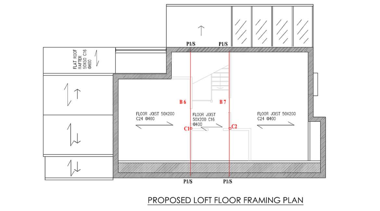 PROPOSED LOFT FLOOR FRAMING PLAN
