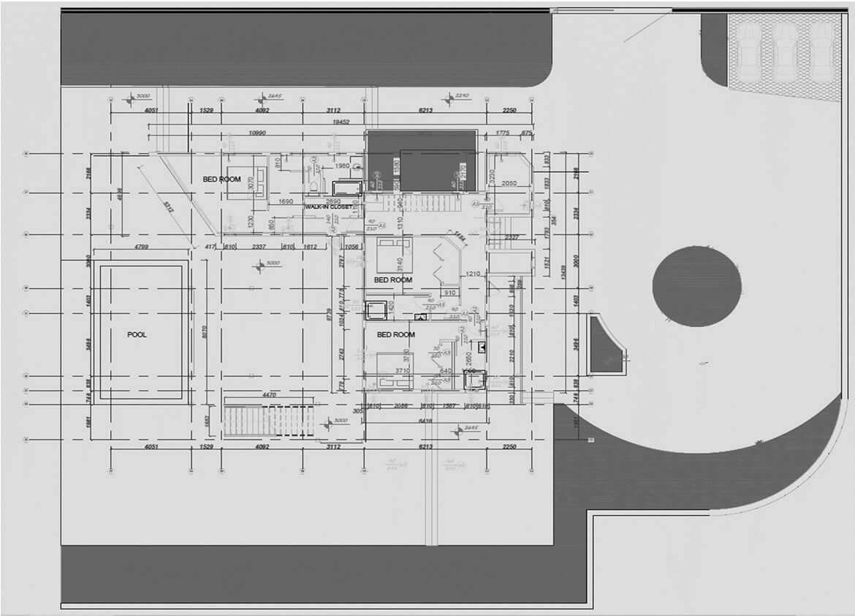 Second Floor plan - Villa design
