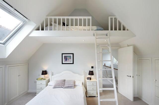 traditional bedroom for mezzanine