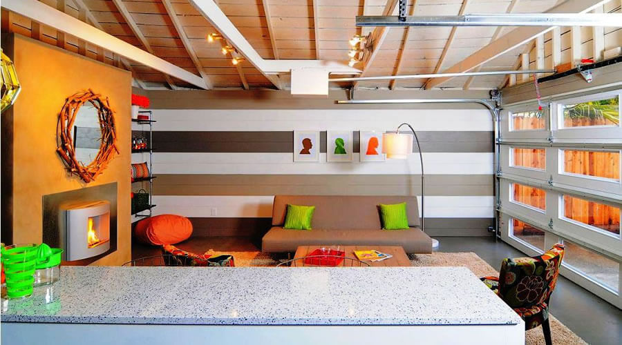 Convert your garage into a Family room