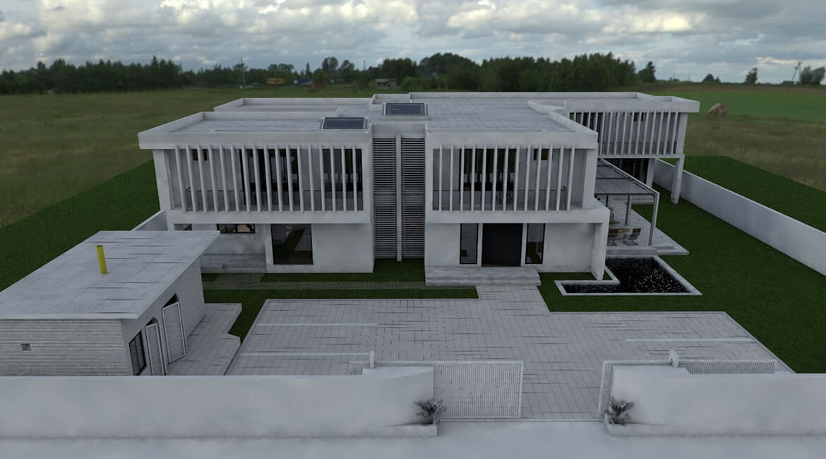Architectural design -Front of the home