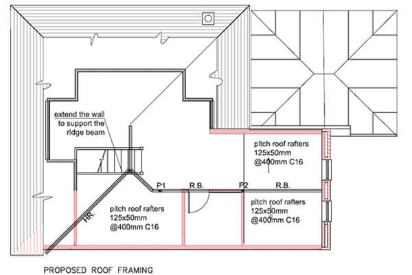 Proposed roof framing