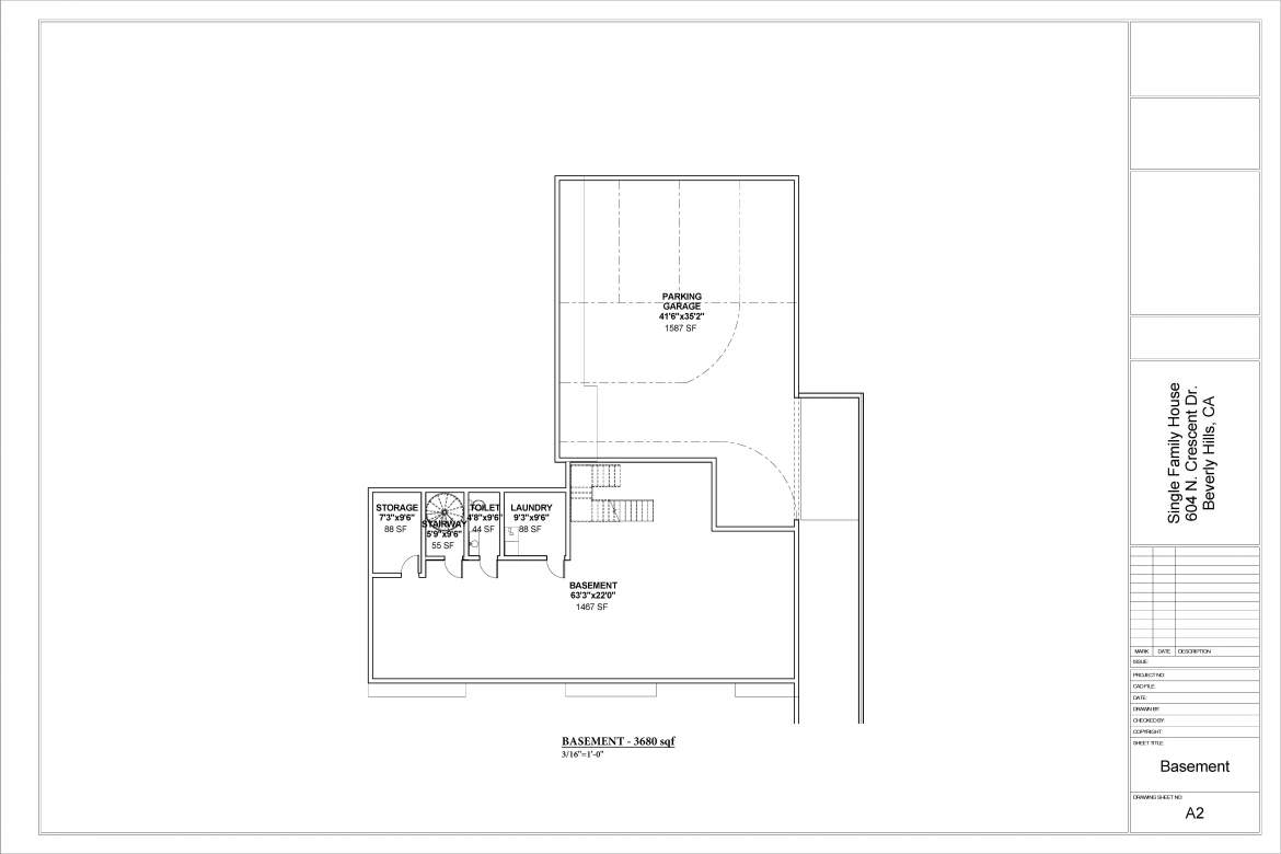 Country House Plans-Basement