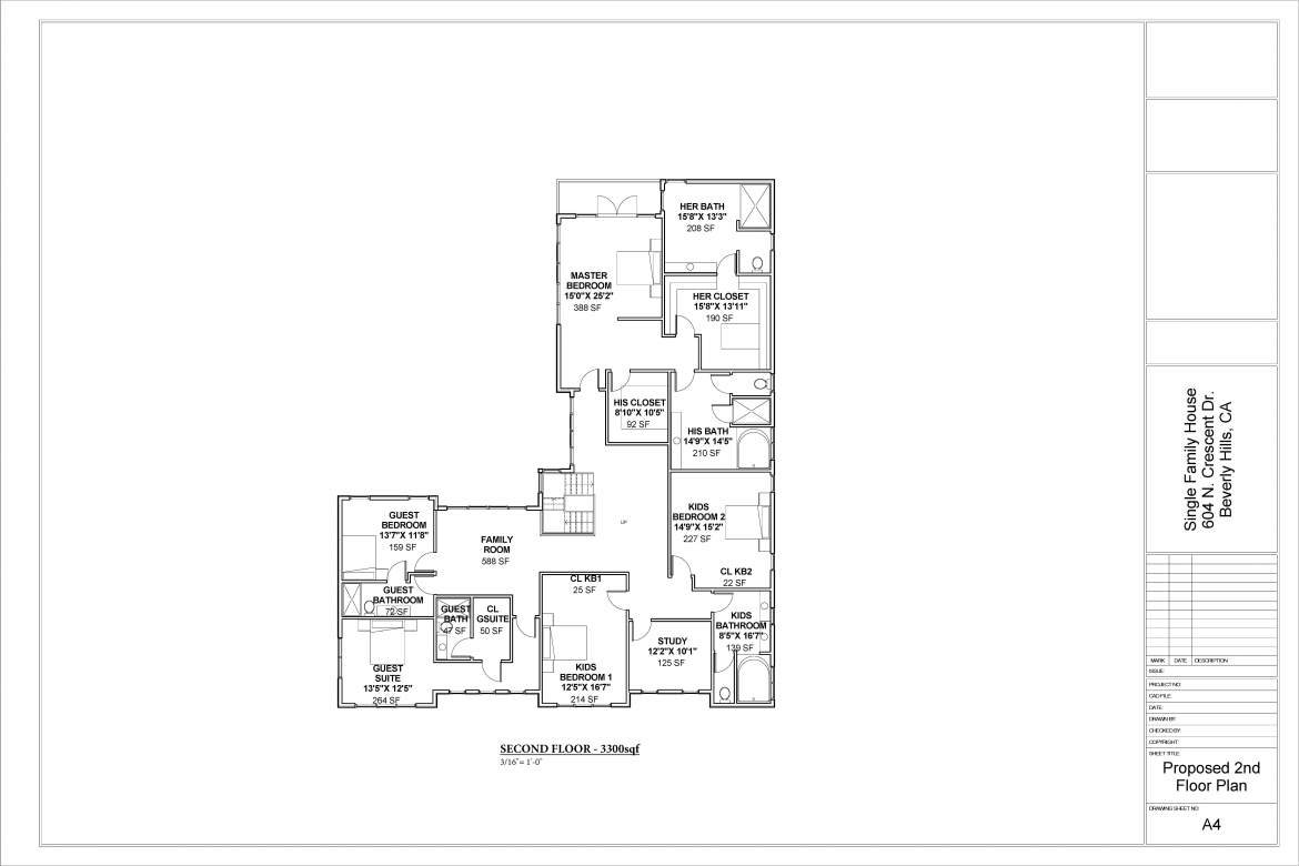 Country House Plans-SECOND FLOOR