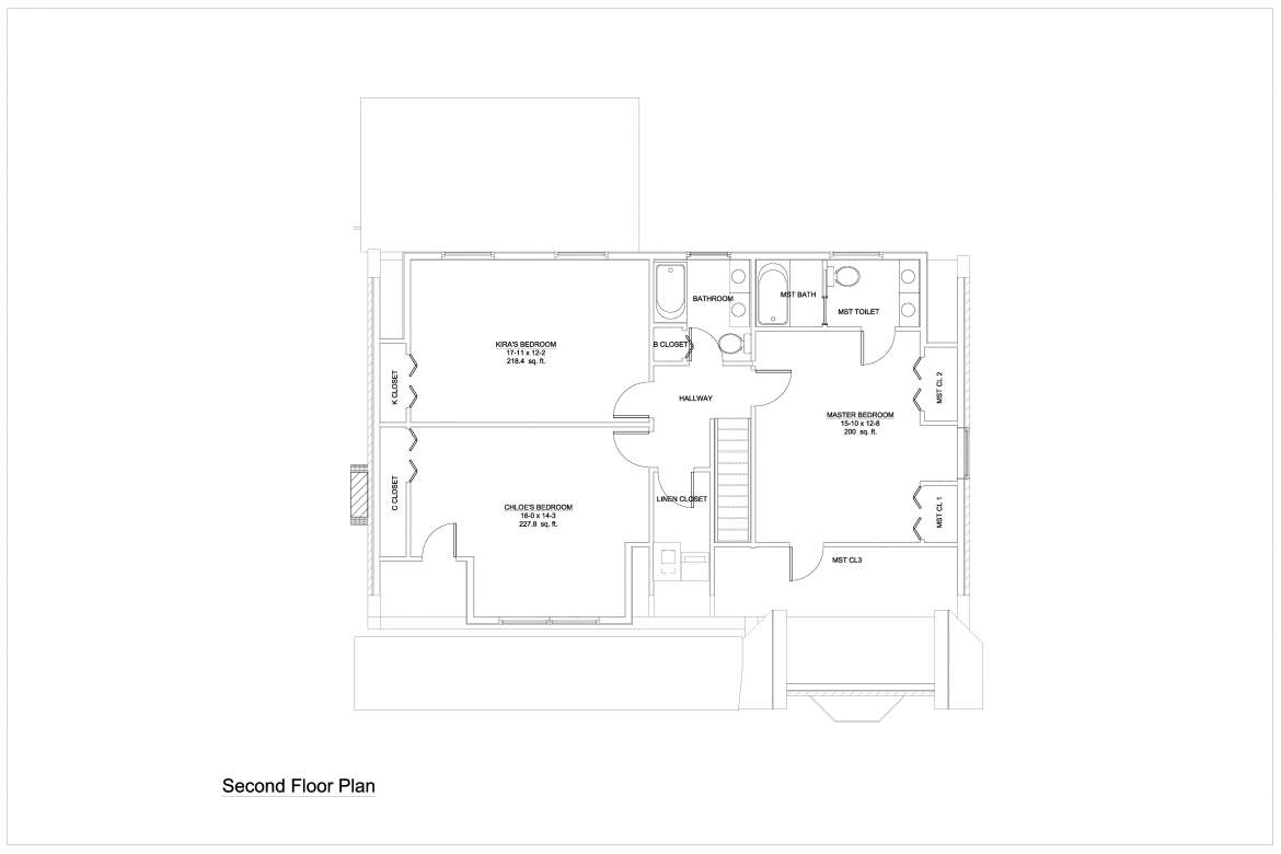 Proposed Second Floor Plan