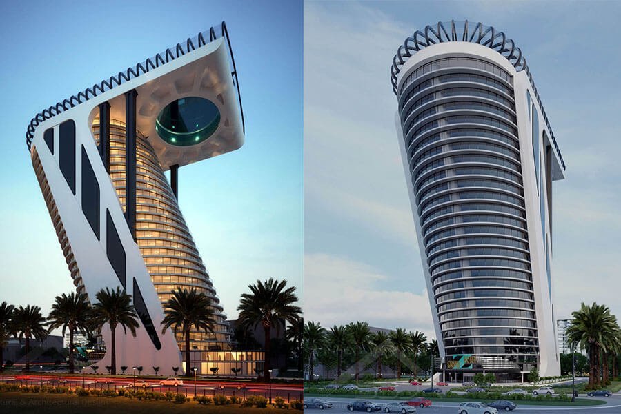 Architectural-Design-of-the-Z-Tower-in-Dubai-tower-design