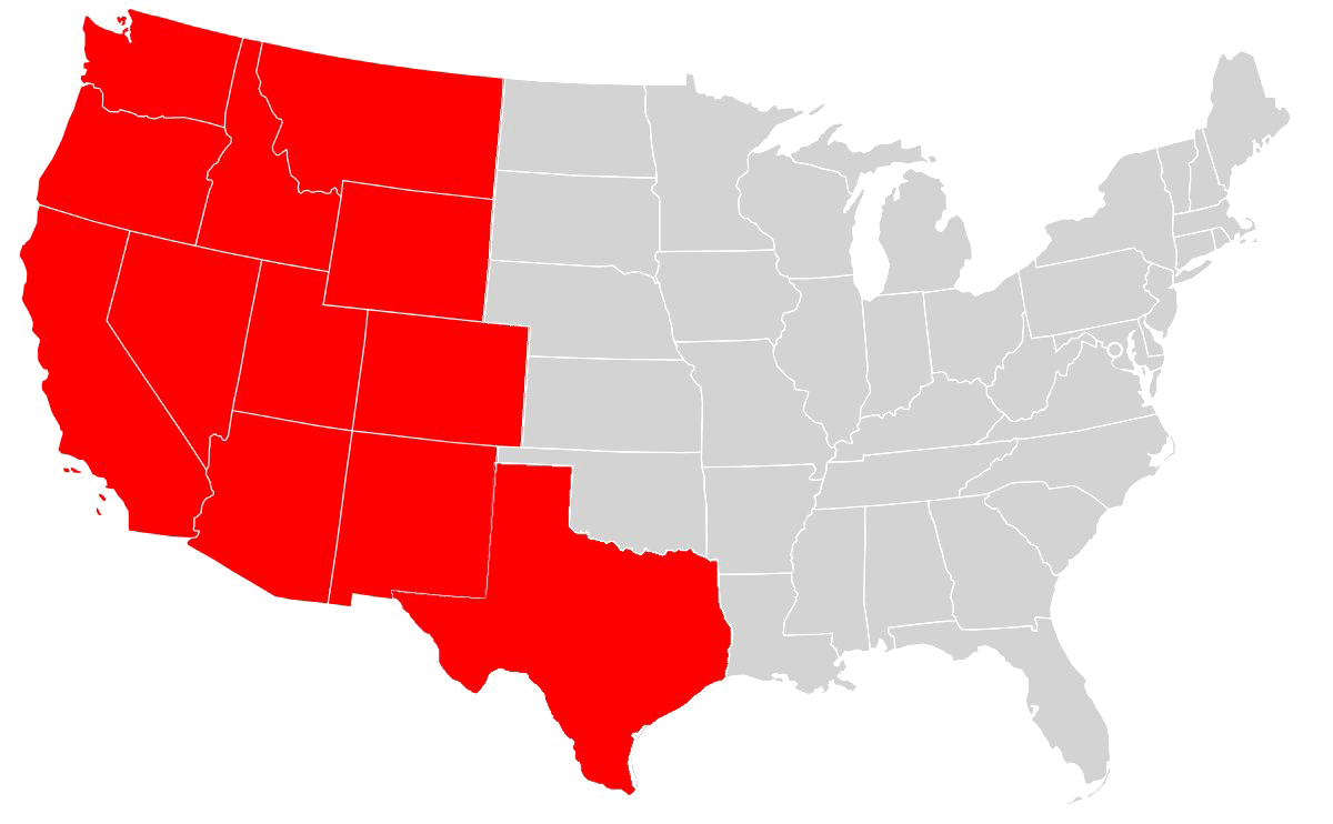 Map with texas