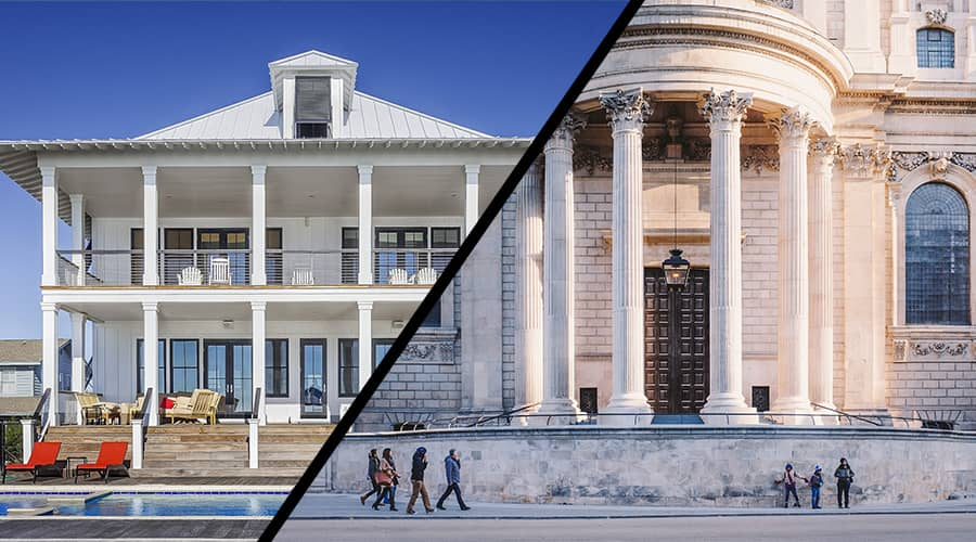 Traditional Architecture versus Modern Architecture